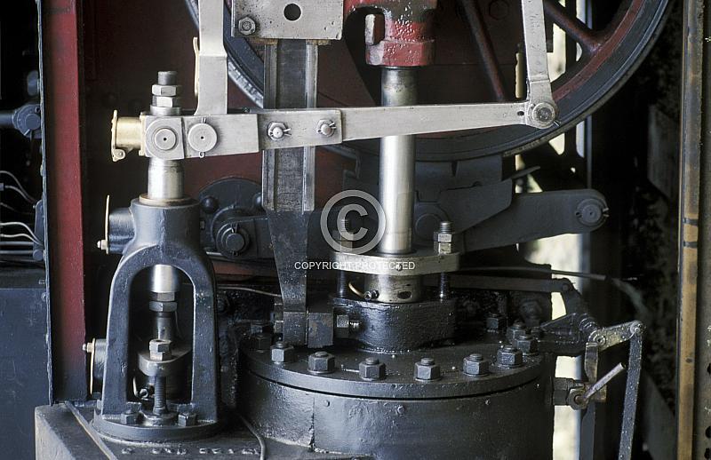 Detail von historischer Dampflok