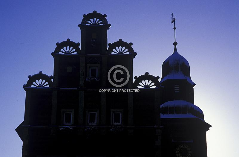 Silhouette des Meppener Rathauses