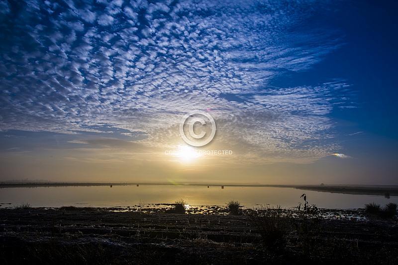 Sonnenuntergang am Bourtanger Moor