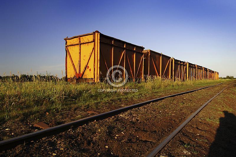 Schienenweg für den Torfabbau