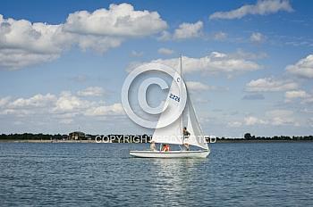 Segelboote auf Speicherbecken Geeste