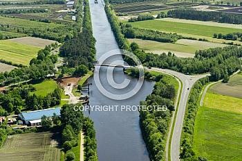 Luftaufnahme des Dortmund-Ems-Kanals in Nordhümmling