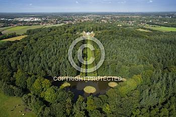 Luftaufnahme vom Schloss Clemenswerth in Sögel