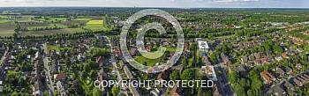 Eine Panorama-Luftaufnahme von der Stadt Meppen