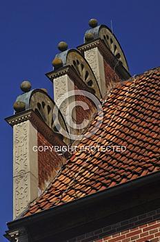 Detail des historischen Rathauses in Meppen
