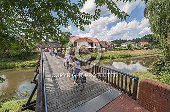 Fahrradfahrer im Hasetal