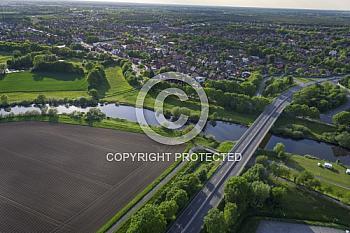 Eine Luftaufnahme von der Stadt Meppen