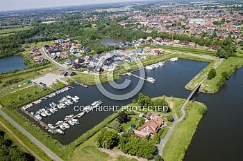 Luftaufnahme Harener Hafen