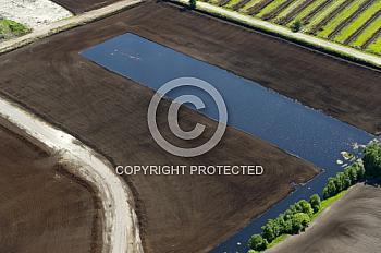 Luftaufnahme von einem Moor in Nordhümmling