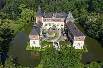Luftaufnahme vom Schloss Dankern