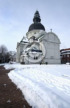 Harener Kirche im Schnee