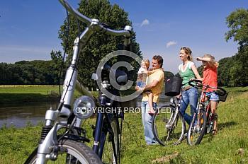 Radtour mit der Familie