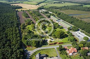 Luftaufnahme der Gedenkstätte Estwerwegen