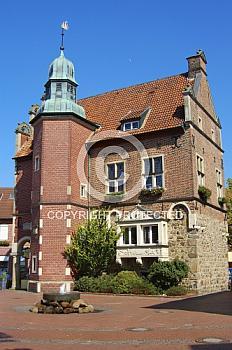 Historisches Rathaus in Meppener Fußgängerzone