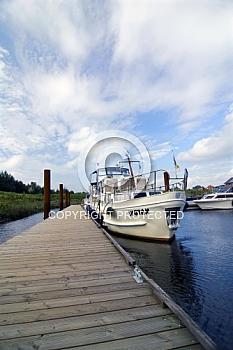 Boot im Harener Yachthafen