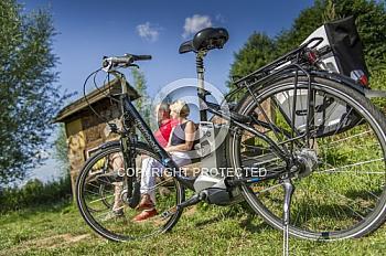Fahrrad mit Personen
