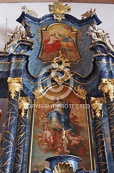 Details des Altars der Kirche in Aschendorf