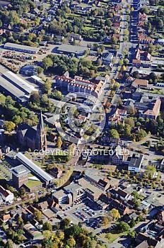 Luftaufnahme der Innenstadt von Papenburg
