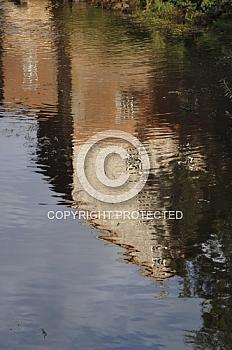 Wasserspiegelung der Herrenmühle in Meppen