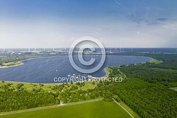 Luftaufnahme vom Speicherbecken in Geeste