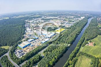 Luftaufnahme Industriegebiet Meppen