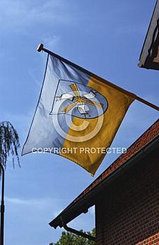 Flagge am Schifffahrtsmuseum in Haren