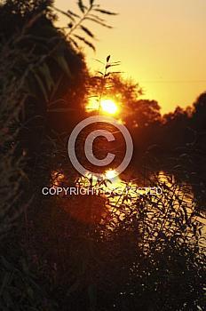 Sonnenuntergang an der Ems