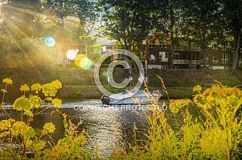 Dortmund-Ems-Kanal in Abenddämmerung