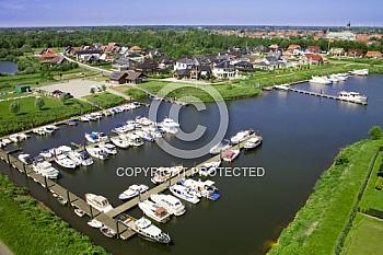 Luftaufnahme vom Yachthafen in Haren
