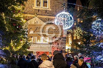 Rathauswald des Weihnachtsmarktes in Meppen