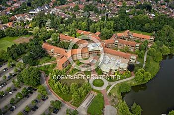 Luftaufnahme vom Kreishaus Meppen