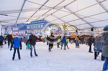 Eisslauffläche auf dem Weihnachtsmarkt Meppen