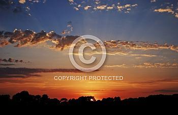 Sonnenuntergang im Emsland