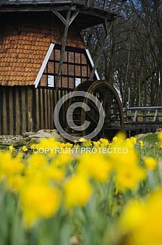Wasserrad der Hüvener Mühle