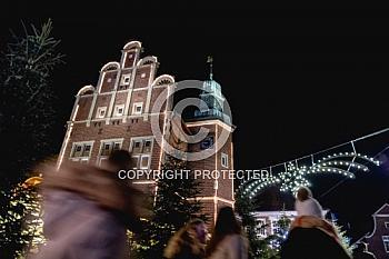 Rathaus auf dem Meppener Weihnachtsmarkt