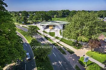 Eine Luftaufnahme vom Jugend- und Kulturzentrum JAM