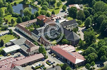 Luftaufnahme von der Johannisburg in Nordhümmling