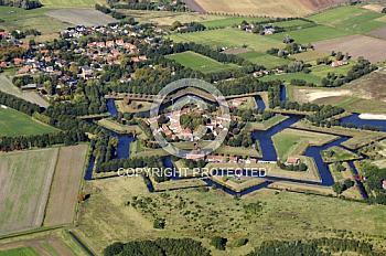 Luftaufnahme der Festung in Bourtange