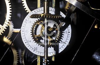 Detail des Uhrwerks im Meppener Rathaus