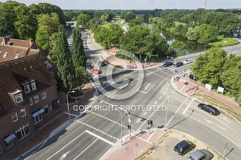 Kreuzung an der Emsstraße und An der Bleiche